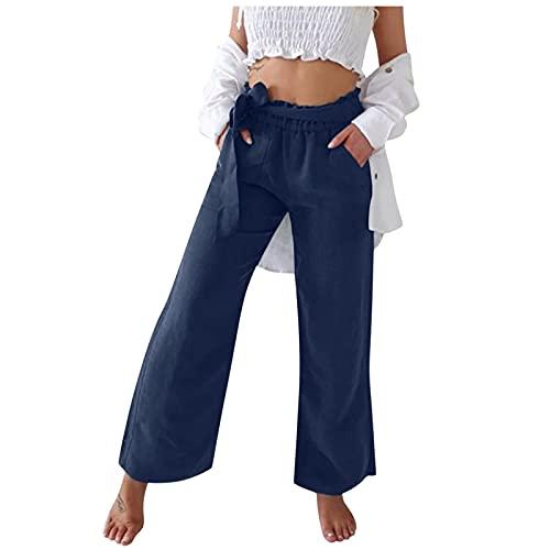 BIBOKAOKE Pantalon de loisirs pour femme, pantalon de loisirs, pantalon de yoga, décontracté, pantalon de sport, pantalon de course, pantalon de fitness avec taille élastique, pantalon de frappe large