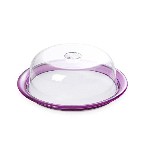Omada Design Bandeja para pasteles con tapa abovedada, también adecuada paraonstrar sus creaciones, 25 cm de diámetro, Globo Line
