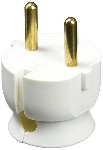 Legrand, 050183 Bases y clavijas - Enchufe extraplano, potencia máxima de trabajo de 3680W y 16A a 230V, color blanco