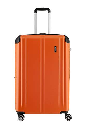 """Travelite Leicht, flexibel, sicher: """"City""""-Hartschalenkoffer für Urlaub und Business (auch mit Vortasche) Koffer, 77 cm, 113 Liter, Orange"""