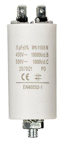 Fixapart - Condensador 8.0Uf / 450 V + Tierra