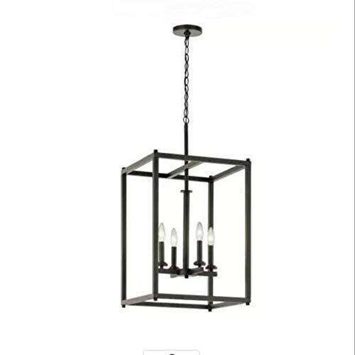 Colgante Industrial 4-cocina de la luz con el cuadrado del metal de...