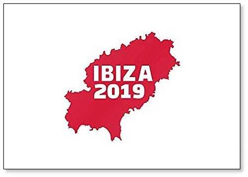 Ibiza 2019 met Kaart Klassieke Koelkast Magneet