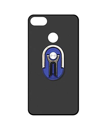 Sunrive Kompatibel mit Nubia Z11 Mini Hülle Silikon,Autotelefonhalterung 360°drehbarer Ring Fingerhalter Handyhalter Handyhülle matt Schutzhülle Etui Hülle (Blau) MEHRWEG