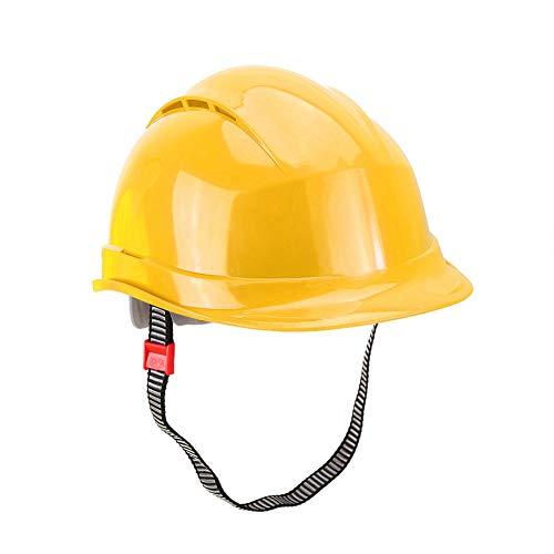 Gorra de seguridad, casco de seguridad cómodo, limpiador de soldador de alta resistencia con diseño de borde agradable para trabajadores mineros(yellow)
