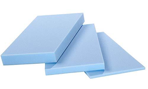 saarschaum Schaumstoffplatte, Schaumstoff Matte RG 3550 blau 202x122x8 cm mittelfest gute Qualität für Sitzkissen Rückenkissen Sitzbänke Stuhlkissen Wohnmobilausstattung Matratzenauflage Versand