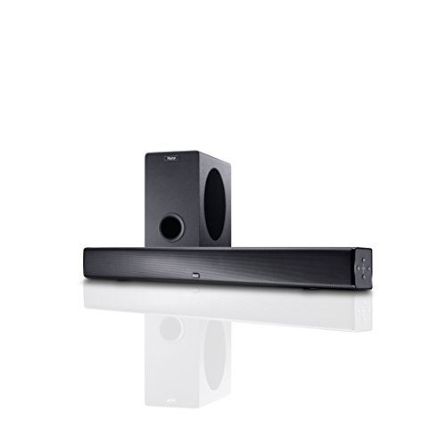 Magnat SBW 250 | Vollaktive Heimkino-Soundbar mit Wireless Subwoofer | Stereo-Zweiwegesysteme, Bluetooth-Speaker, HDMI & aptX-Support - Schwarz
