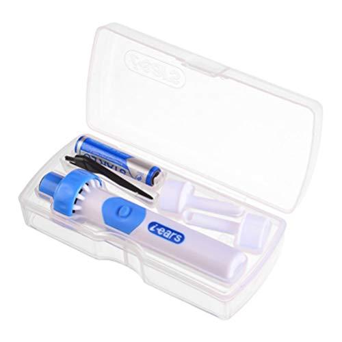 Exceart Elektrischer Ohrenreiniger Automatischer Ohrwachsentferner Ohrenwachsreiniger Ohrwachsabsauggerät für Den Häuslichen Kindergarten (Blau)