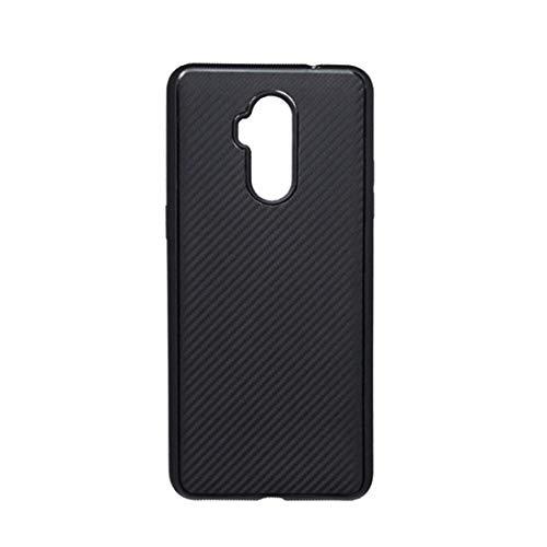 YIJINYA ESHOP Teléfonos móviles Funda Funda de TPU a Prueba de Golpes de Fibra de Carbono for ULEFONG P6000 Plus/Power L3 (Negro) Cubierta de teléfono (Color : Black)