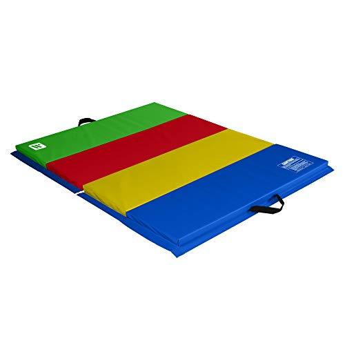 We Sell Mats 4 ft x 6 ft x 2 in Personal Fitness & Exercise Mat, Lightweight and Folds for Carrying, Multicolor