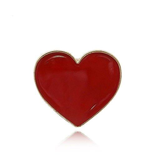 Null Karat Anstecker Love Pin Herz Rot Heart schmuckrausch