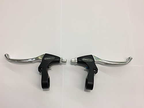Fahrrad Tektro Cantilever Bremshebel Set Links & Rechts, Schwarz/Silber - 2