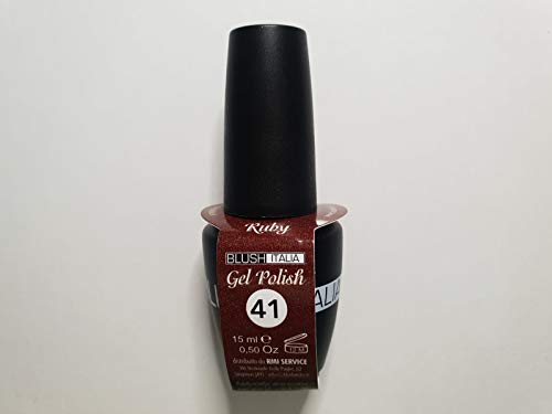 Gel Polish 15 ml semipermanenti Blush Italie 96 couleurs ultra coprenza maximale durée (41 – Ruby)