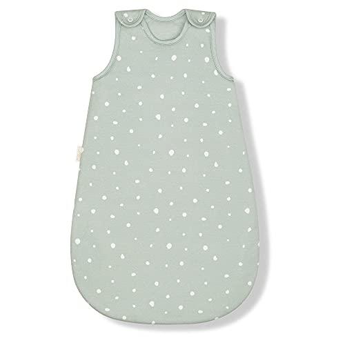 Sleeping Rebels® Baby Schlafsack Sommer aus Bio-Baumwolle - Sommerschlafsack - Babyschlafsack - 1.0 TOG - Oeko-TEX - Premium Qualität (Sage, 50/56)