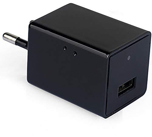 YouthRM Cargador de Cámara WiFi, Cámara de Video Inalámbrica HD USB Cámara con Cargador USB 1080P con Detección de Movimiento para el Hogar, la Oficina,American Plug