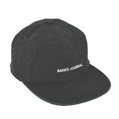 バンクスジャーナル BANKS JOURNAL ロゴ キャップ HA0130 ブラック LABEL HAT ウォッシュ加工 サーフ スト...