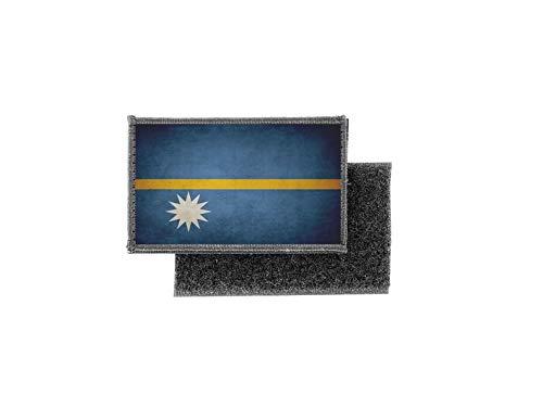 Aufnäher patch aufbügler vintage gedruckt flagge fahne nauru