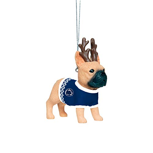 Penn State Nittany Lions NCAA French Bulldog Wearing Sweater Ornament
