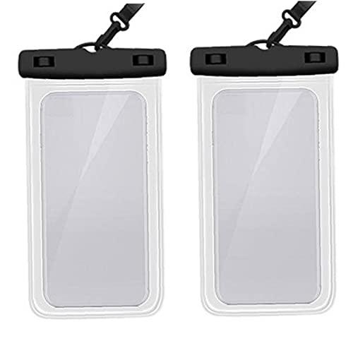 WFIT Funda Impermeable Paquete De 2, a Prueba De Agua Bolsa del Teléfono Bolso Seco para El iPhone 11 Pro MAX MAX X XR XS X 8 7 6 6s Plus Samsung S20 S10e S9 S8 Huawei P30 Pro 20 Pro,