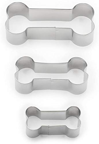 Fox Run Dog Bone Cookie Cutter Set, Stainless Steel, 3-Piece