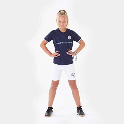 Morefootballs - Offizielles Manchester City Auswärts Trikot Set für Kinder - 2020/2021-152 - Vollständiges Man City Tenue mit Trikot und kurzer Hose - Fussball Shirt und Shorts