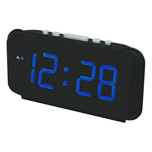 ZHZLX-alarm clock RéVeil LED RéVeil éLectronique RéVeil NuméRique Simple OpéRationnel IntéRieur Maison CréAtif DéCoration Table De Chevet Bureau éTude Hommes Cadeau IdéAl Noir 9 Pouces