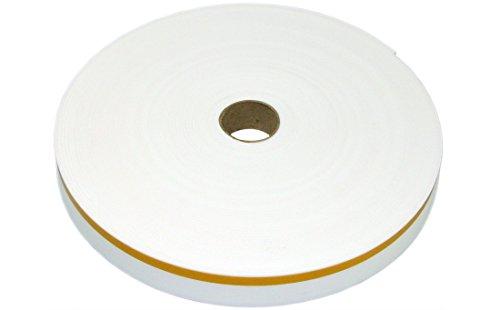 Colorus Dehnfugenband 35 mm x 30 m | Stuckband weiß mit 12 mm Klebekante | Trennstreifen für Trockenbau | Fugen-Klebeband für Putzanschlüsse | Schaum-Klebeband für Innen, Außen | stark klebend