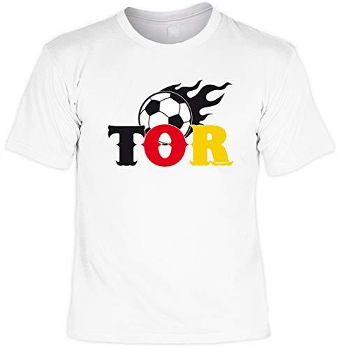 Fussball - Tor Länderspiel - T-Shirt für IHN inkl. Blechschild - Funshirt - Geschenkidee, Größe:3XL