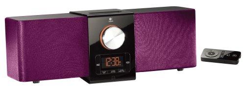 Logitech Pure-Fi Express Plus Lautsprechersystem für iPod/iPhone purple