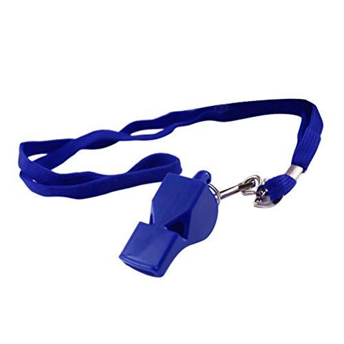 LIOOBO Entrenador Árbitro Silbato de plástico con cordón Ideal para Entrenamiento Deportivo (Azul)