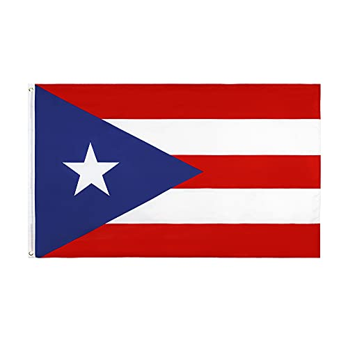 Puerto Rico Flag 3x5 Foot Puerto Rican National Flags with Brass Grommets 3 X 5 Ft