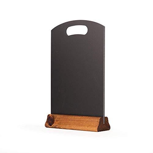 Chalkboards UK Tableau noir à main avec socle, bois, noir, 31 x 21 x 4 cm