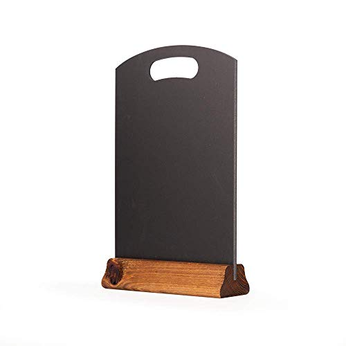 Kreidetafeln UK A4PDA Tischplatte Tafel mit Sockel, (H: 297mm x W: 210mm), Holz, schwarz, 32x 21x 4cm