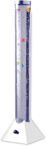 90cm / 100cm / 110cm / 120cm Lámpara De Torre De Tubo De Burbuja Led De Humor Que Cambia De Color Con Peces Simulados, Lámpara De Pie De Decoración Del Hogar (Talla : 90cm)