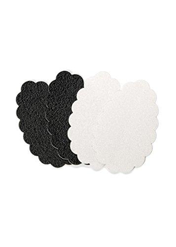 FOOT PETALS - Sole Stopperz Antideslizante auto-adhesivo par la suela - 2 Pares en cada blister (Negro/Transparente)
