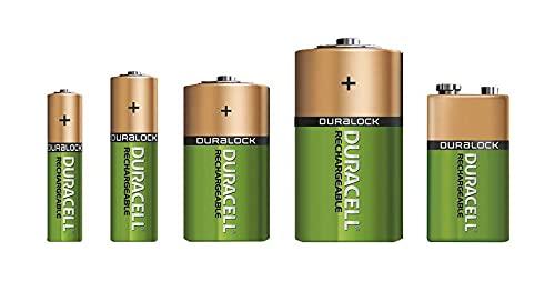 Duracell - Rechargeable AA 2500 mAh Prericaricate, Batterie Stilo Ricaricabili 2500 mAh, 4 Batterie