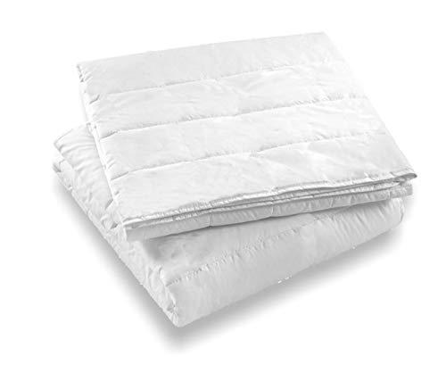 Italian Bed Linen Piumino 4 Stagioni Prestige, Microfibra, Bianco, 150 x 200 cm