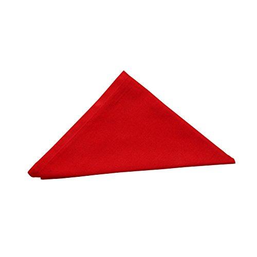 HOMESCAPES Serviettes de Table de Noël, Lot de 4, Linge de Table en Coton uni Rouge, Décoration de Table de Noël