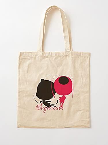 Miraculous Akuma Mirculous Tikki Gato Ladynoir Marinette Negro Cat Ladybug | Bolsas de compra de lona con asas, bolsas de la compra de algodón duradero