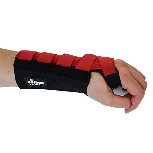 Solace Bracing Pols Ondersteuning Carpal Tunnel Gym Hand Toetsenbord Sprain Strain Wrap Medium - Left Rood