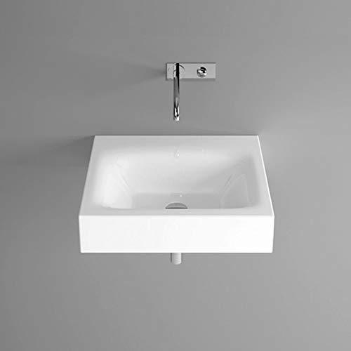 Bette Lux wastafel voor wandmontage zonder kraangat, A166 600 x 495 mm, Kleur: Wit met BetteGlaze Plus - A166-000PW