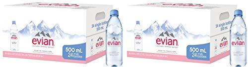 evian dSfg Natural Spring Water Individuele 500 ml (16 oz.) Flessen, natuurlijk gefilterd bronwater in individuele…
