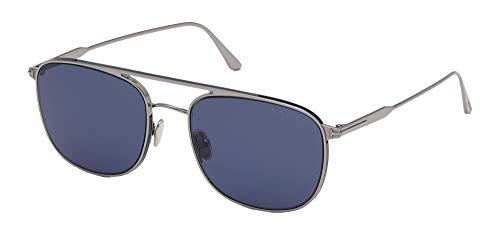Tom Ford Gafas de Sol JAKE FT 0827 Light Ruthenium/Blue 56/20/145 hombre