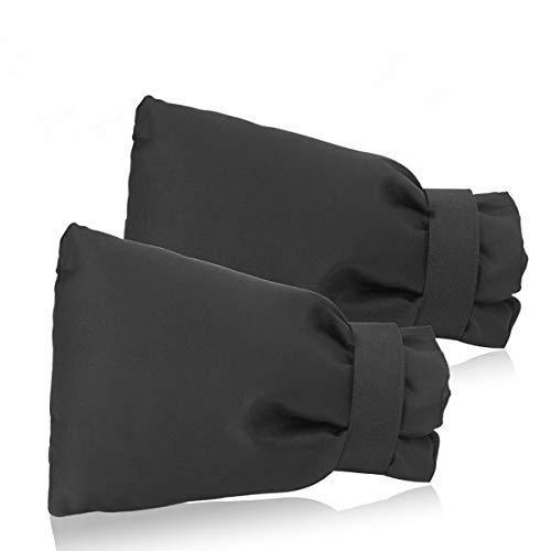 NASUM Kit de 2 Housses de Robinet, Couverture de 600D Oxford Chaussettes Robinet, Couverture Isotherme Thermique Anti-Gel/Neige/Pluie/Givre/Froid, pour Robinet de Jardin et Extérieur, 18,5 x 13,5 cm