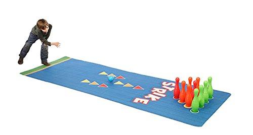 House of Kids 12374-e3Spiele Riesen Teppich Bowling-Polyester Mehrfarbig 300x 0,5x 100cm
