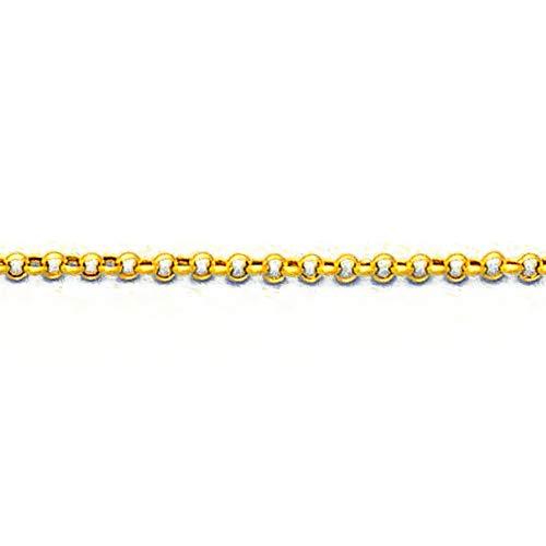 MAG - ketting van 18-karaats goud, 60 cm lang, 2 mm breed