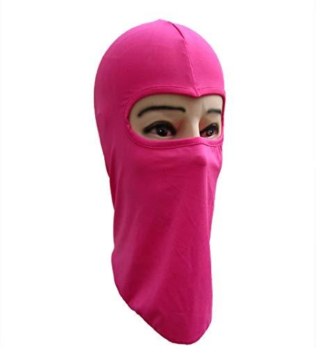 QFYD FDEYL pasamontañas Moto Impermeable,Ciclismo al Aire Libre máscara de Ciclismo 3 Piezas-Rosa Rojo, Protector Sombrero para Invierno Ciclismo Moto