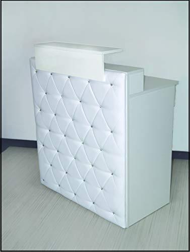 """Design Empfangstheke Modell:""""Diamond White"""" WEISS 100cm - Theke mit Strasssteinen-Tresen-Empfang-Count"""