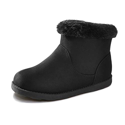 festooning Girls & Toddler' Faux Fur Shearling Style Boots