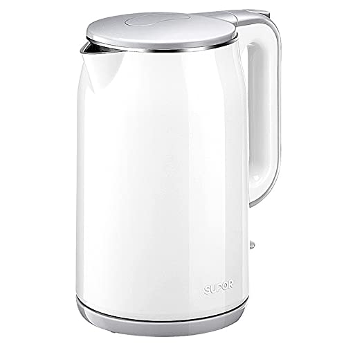 hanzeni Electric Kettle Stainless Steel Interior Double Wall Tea Maker with Auto Shut-Off & Boil-Dry Protection Easy-to-Clean Cordless